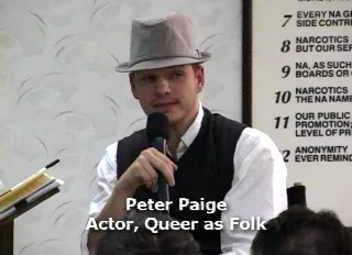 Town Hall Meeting on Crytsal Meth addiction. Clip features Actor, Peter Paige of